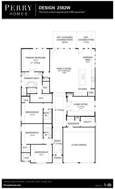 2582w plan at aliana 55' in richmond, texasperry homes