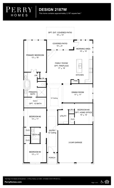 2187w plan at southlake 50' in pearland, texasperry homes