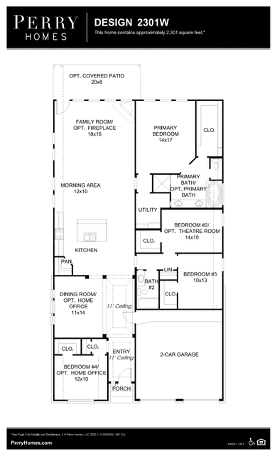 2301w plan at meridiana 55' in iowa colony, texasperry homes