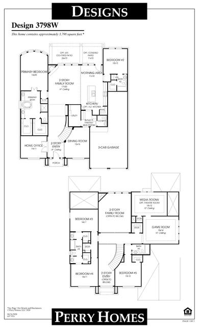 3798w plan at veranda 65' in richmond, texasperry homes