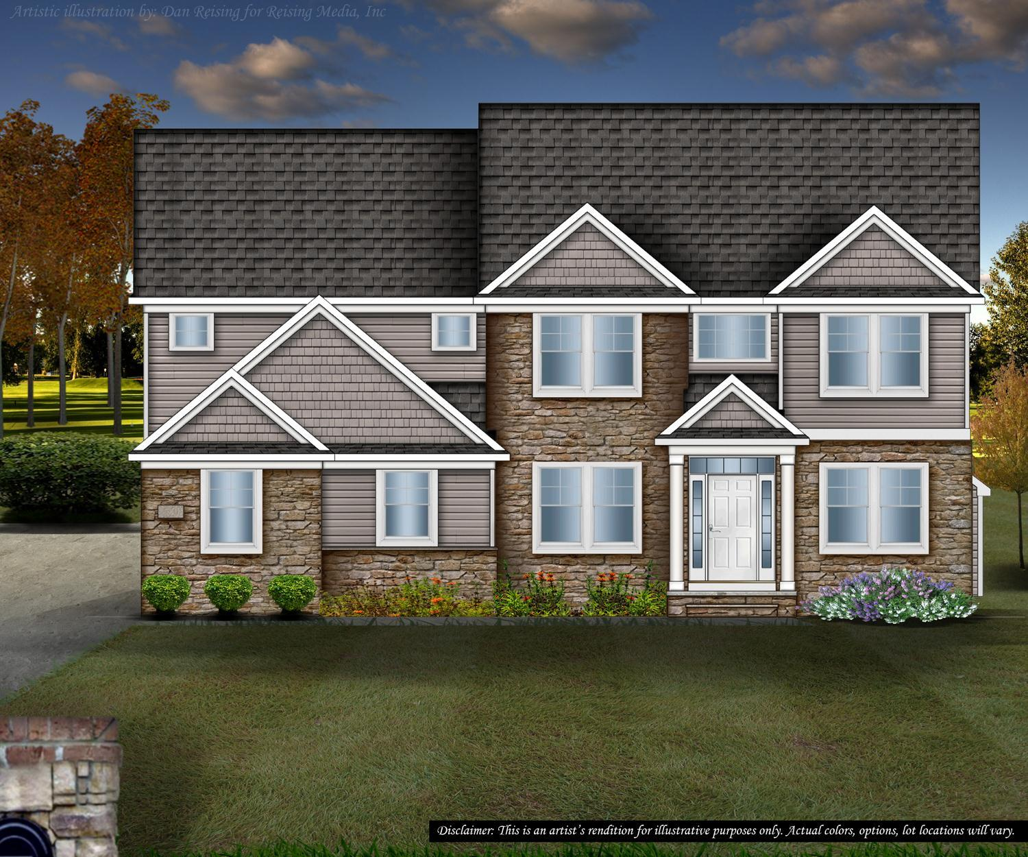 Exterior featured in the Crestwood By Petros Homes in Cleveland, OH