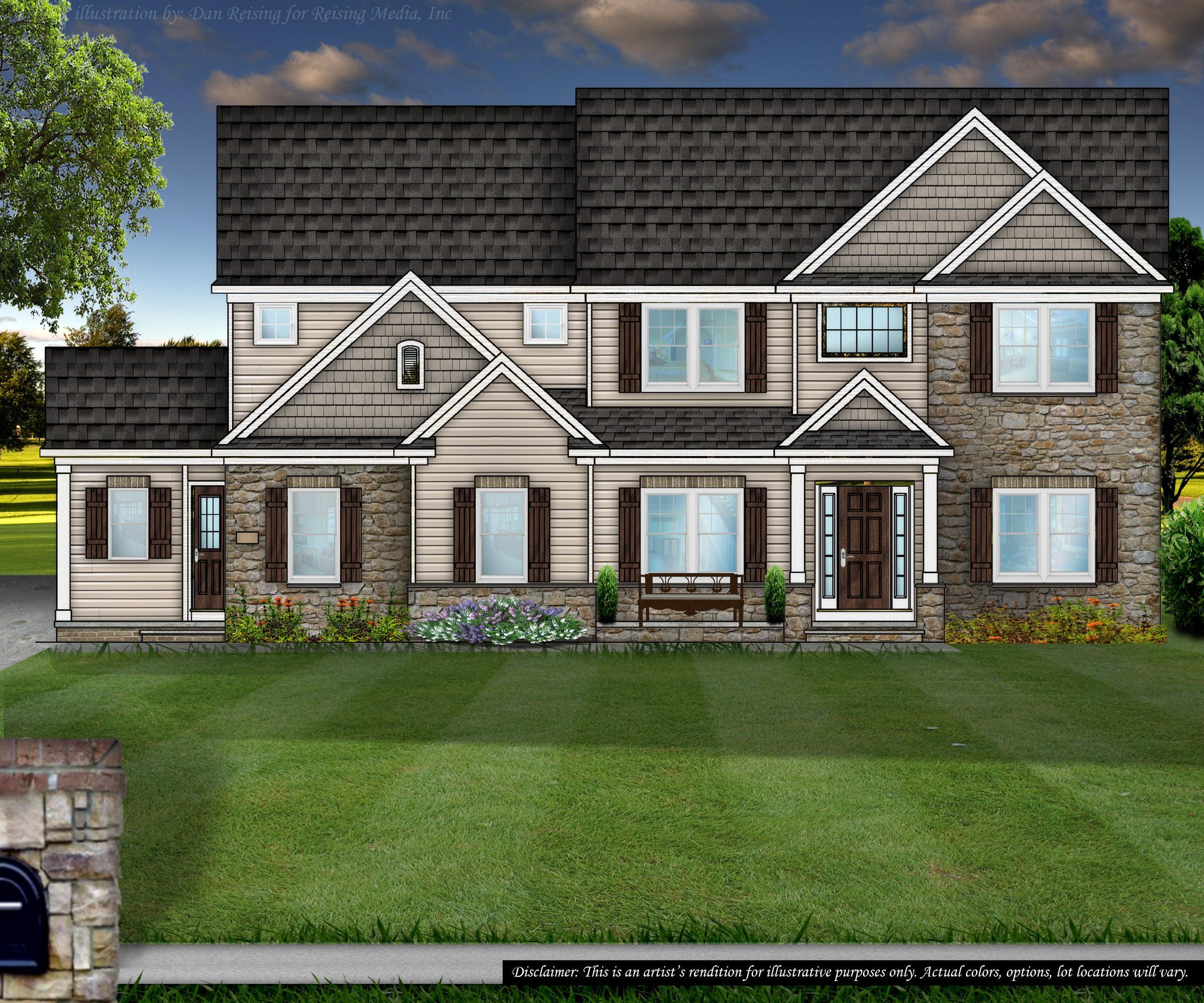 Exterior featured in the Bridgewater By Petros Homes in Cleveland, OH