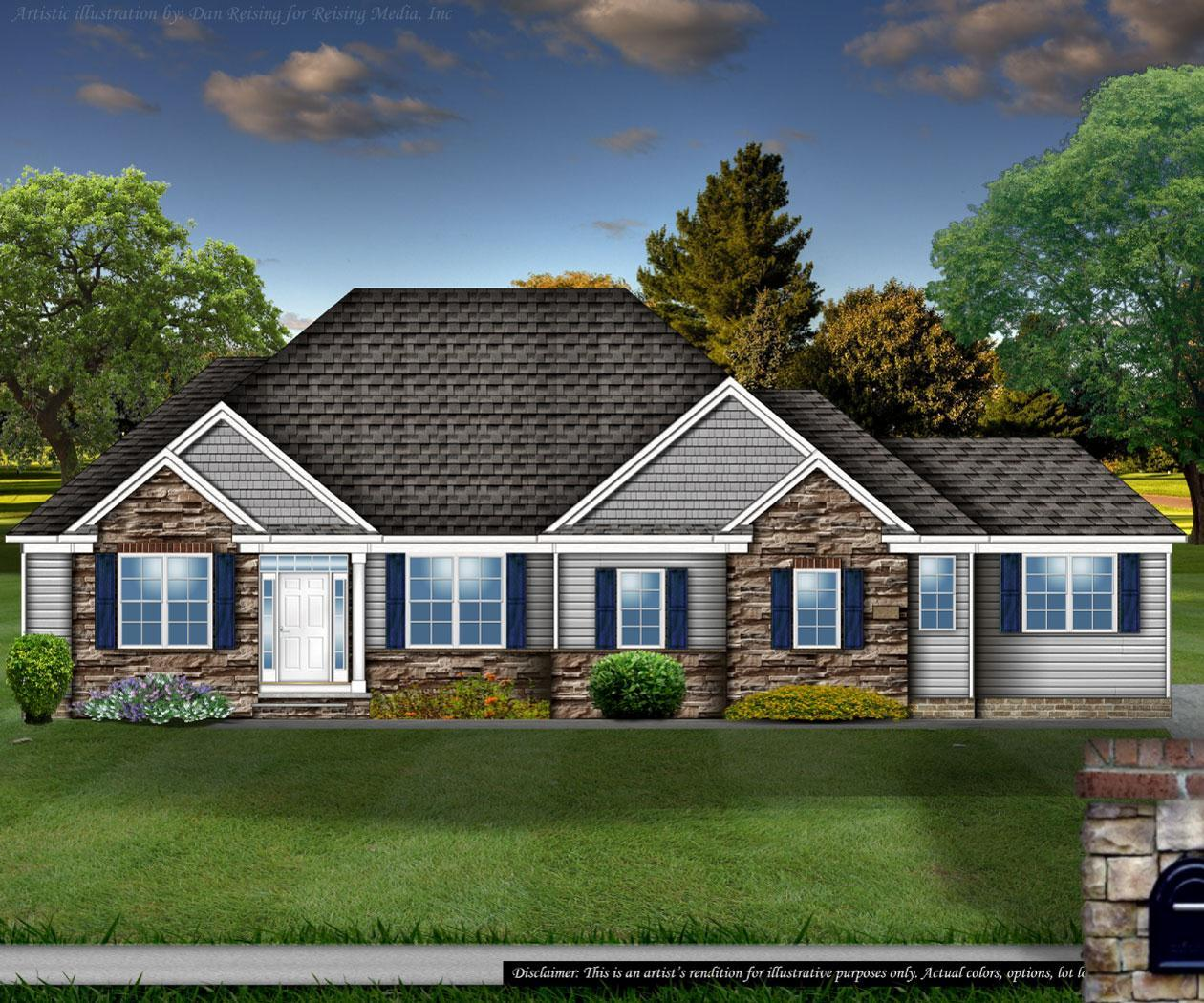 Exterior featured in the Berkshire By Petros Homes in Cleveland, OH