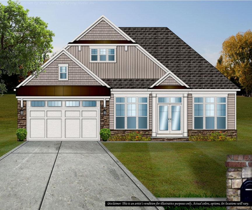 Exterior featured in the Newport Ranch By Petros Homes in Cleveland, OH