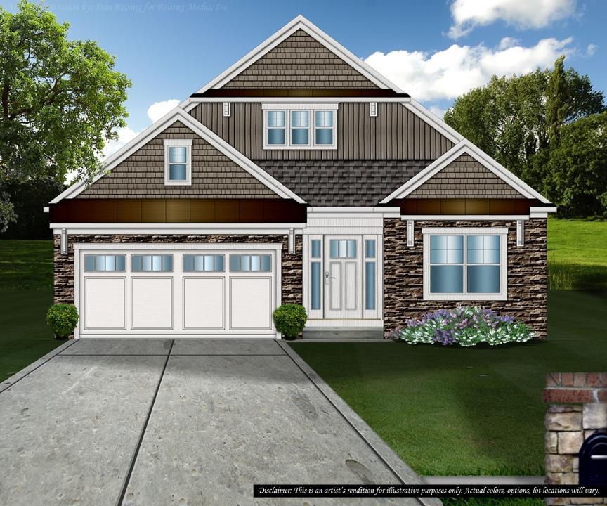 Exterior featured in the Lancaster By Petros Homes in Cleveland, OH
