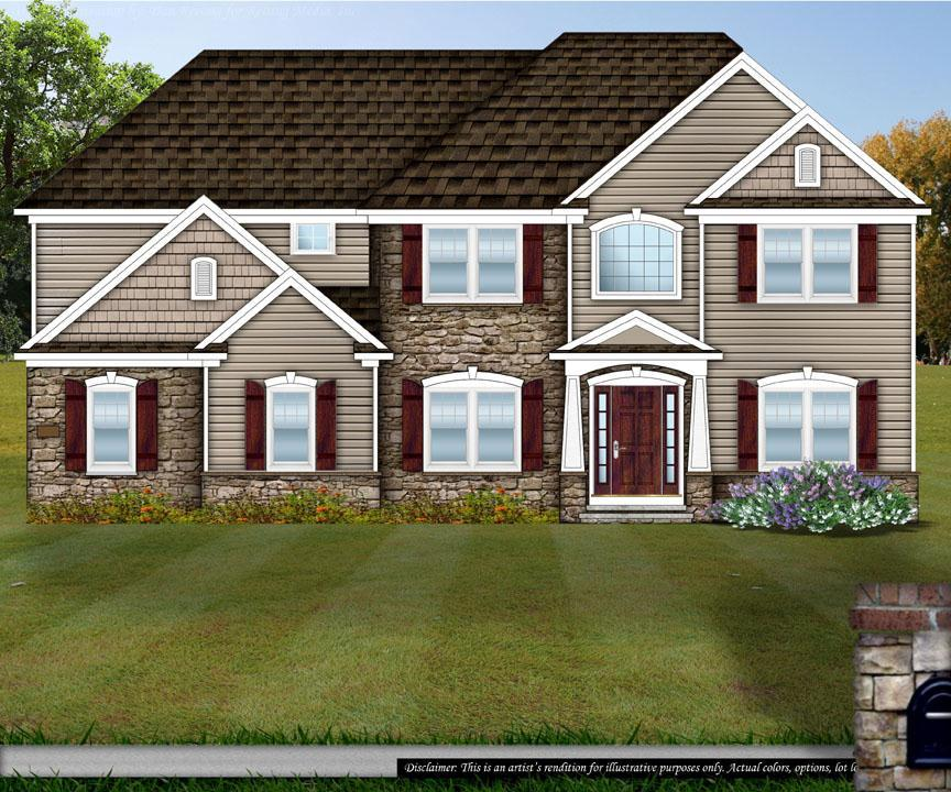Exterior featured in the Creekview By Petros Homes in Cleveland, OH