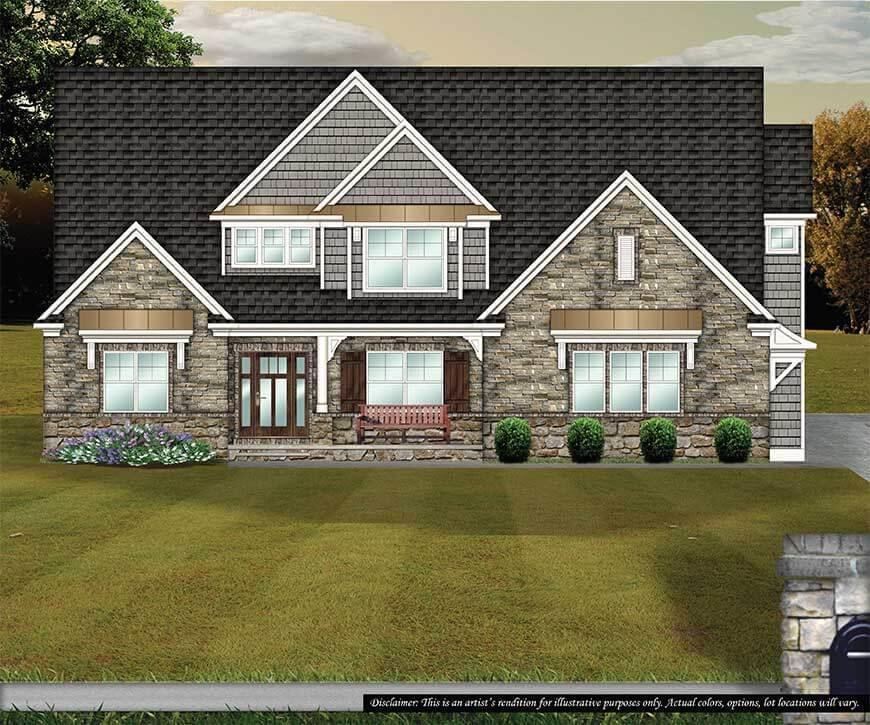 Exterior featured in the Woodbridge By Petros Homes in Cleveland, OH