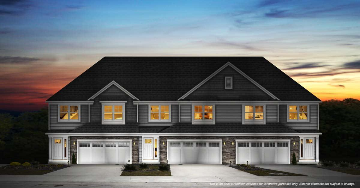 Exterior featured in the Townsend By Petros Homes in Cleveland, OH