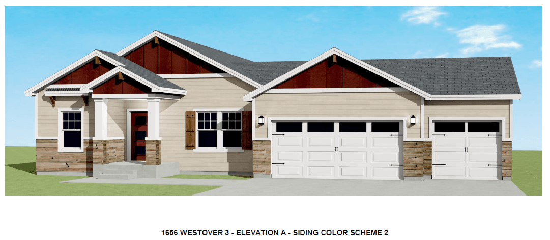 Exterior featured in the Juniper By Westover Homes in Pueblo, CO