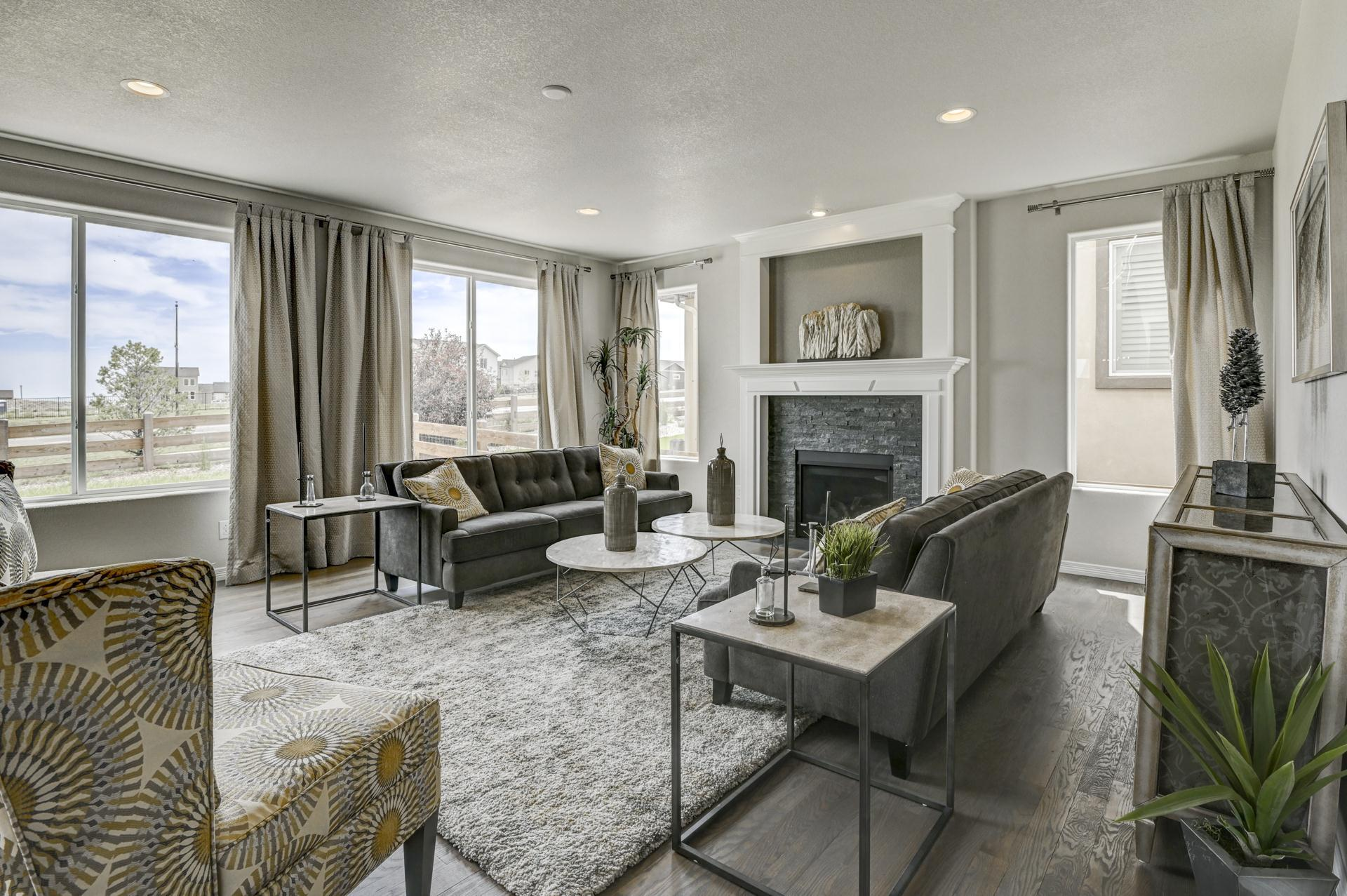 Living Area featured in the Sunlight Peak (Unfinished Basement) By Reunion Homes