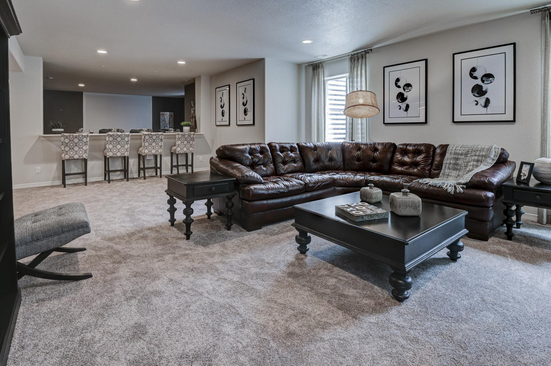 Living Area featured in the Sunlight Peak (Finished Basement) By Reunion Homes