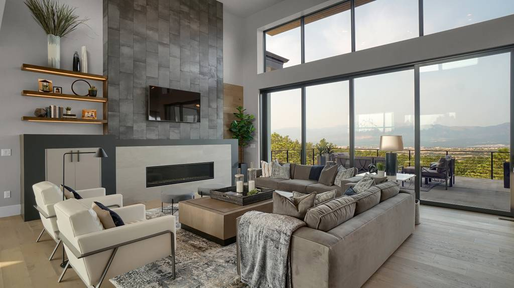 Living Area featured in the Apogee (Slab) By Galiant Homes in Colorado Springs, CO