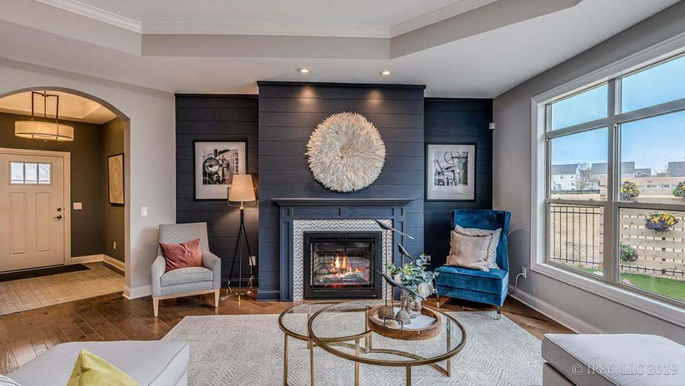 Living Area featured in the Promenade III By Pinnacle Communities in Des Moines, IA