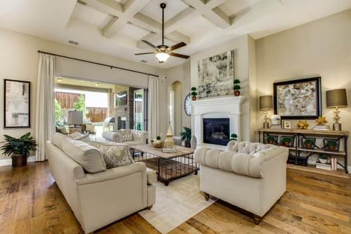 Greatroom-and-Dining-in-Tuscola-at-Wildridge 70' Homesites-in-Oak Point