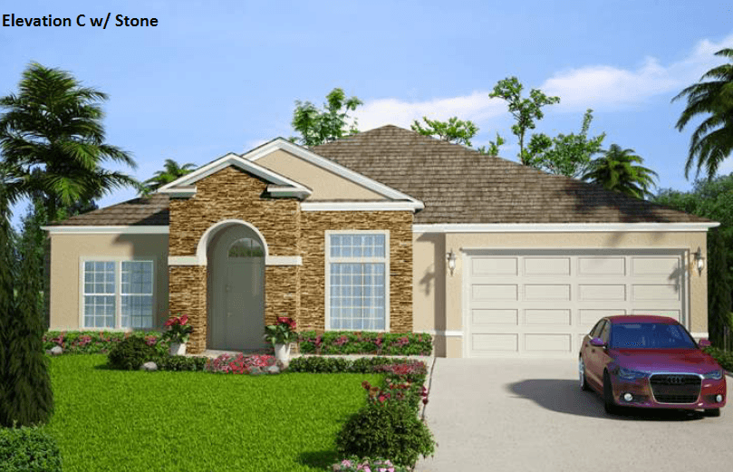 Exterior featured in the Lindie Jane By Port St Lucie Pool Homes