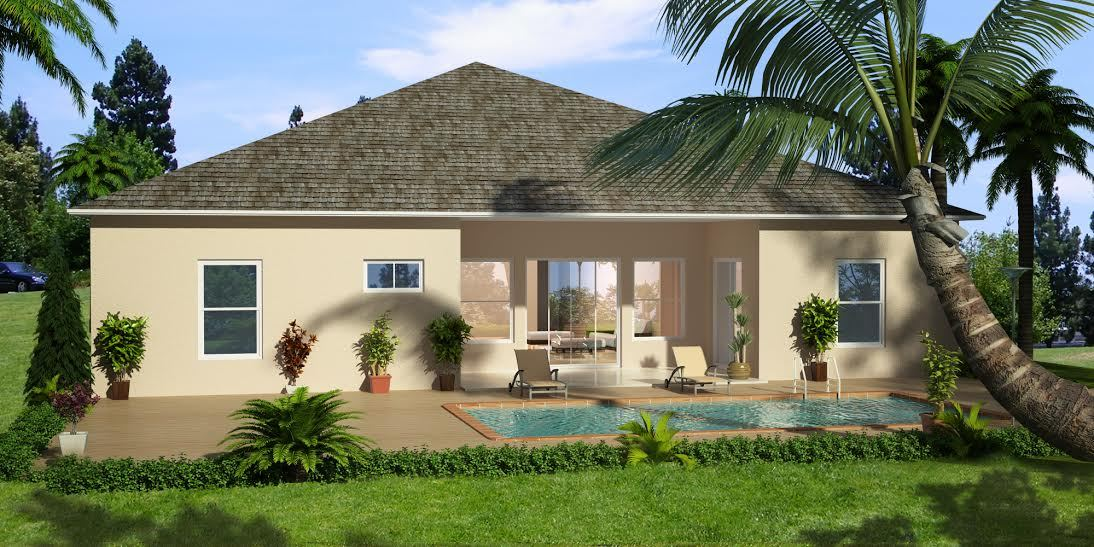 Exterior featured in the Jayston By Port St Lucie Pool Homes