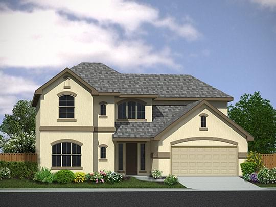 Exterior featured in The Olympia By Princeton Classic Homes SA in San Antonio, TX