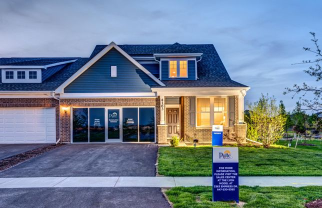 Provence - Duplex:Provence: 1,577-2,696 Sq. Ft. (The Provence Model at Dusk)