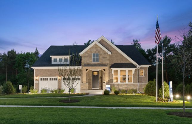 Lyon (Ranch):Ranch with Available 2nd Story (the Lyon Model Home at Dusk)