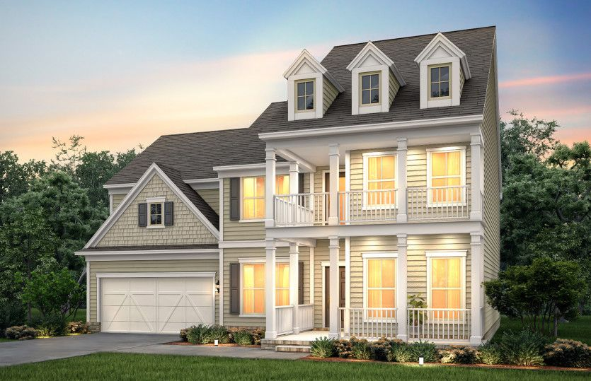 Exterior featured in the Woodward By Pulte Homes in Atlanta, GA