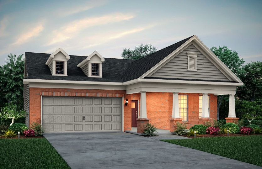 Exterior featured in the Abbeyville By Pulte Homes in Atlanta, GA