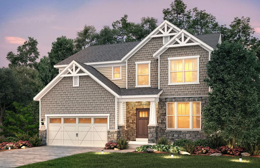 Exterior featured in the Mercer By Pulte Homes in Chicago, IL