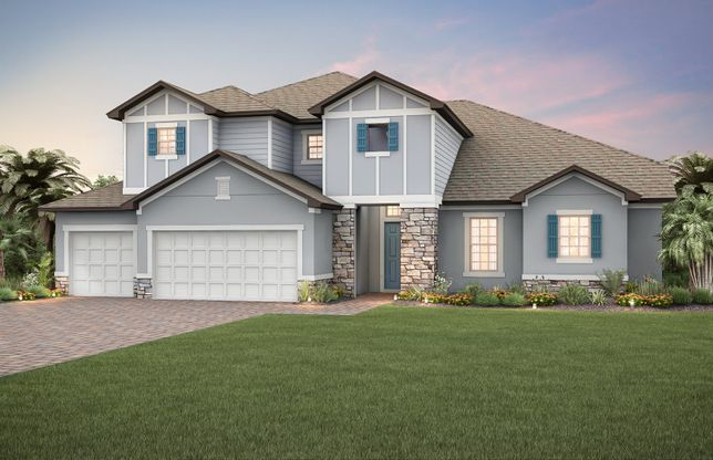 Gardenside:New Construction Home For Sale at Retreat at Lake Brantley - Exterior 10 with Loft