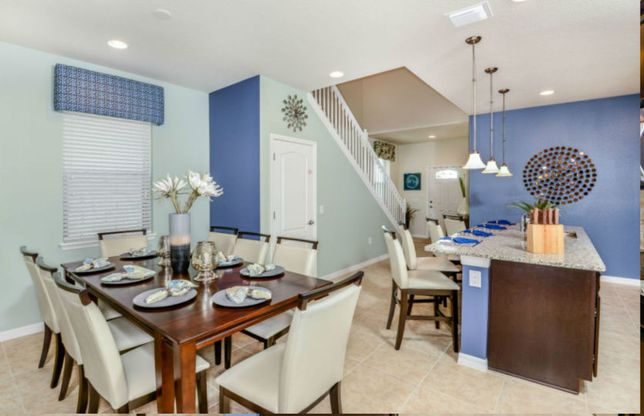 Exterior:Seashore Kitchen and Dining Room - New Construction Home
