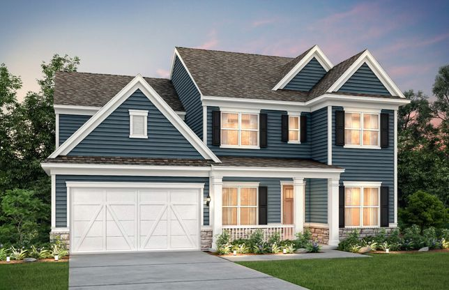 Wingate:Wingate Exterior 68 features stone accents, siding and covered front porch