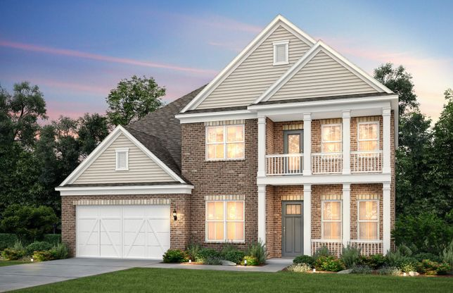 Riverton:Riverton Exterior 69 featuring brick, siding accents and double front porch