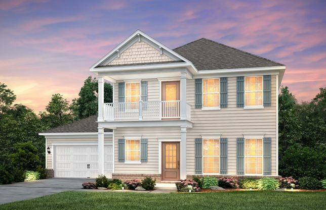 Foxfield:Foxfield Exterior 5 w/siding, shakes, brick , double front porch/deck and 2 car garage