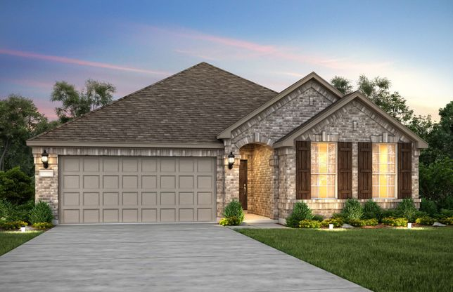Exterior:Exterior A, with shutters and 2-car garage with extra storage space