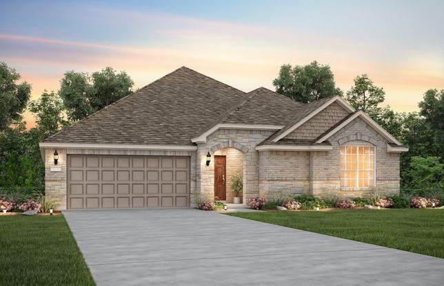 Sunnyvale:The Sunnyvale, a one-story home with 2-car garage, shown with Home Exterior C