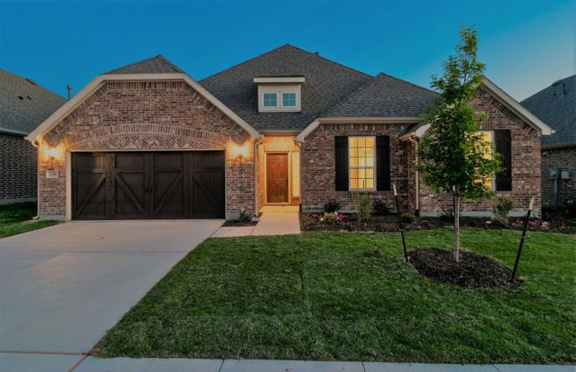 Kennedale:The Kennedale, a two-story home with 2-car cedar garage, shown with Home Exterior B