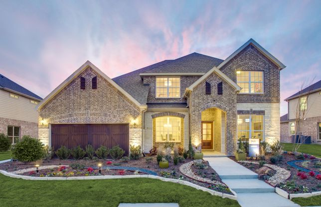 Lawson:The Lawson, a two-story home with 2-car garage, shown with Home Exterior D