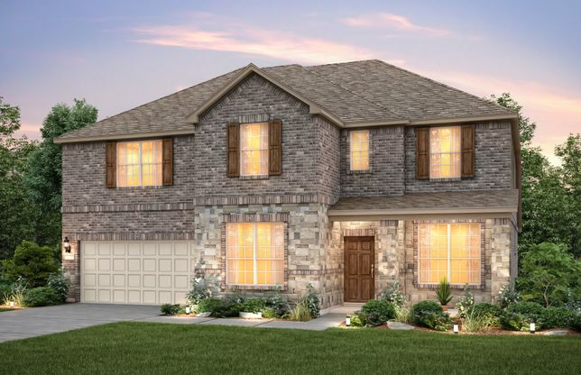 Weston:The Weston, a 2-story new construction home shown with Exterior C