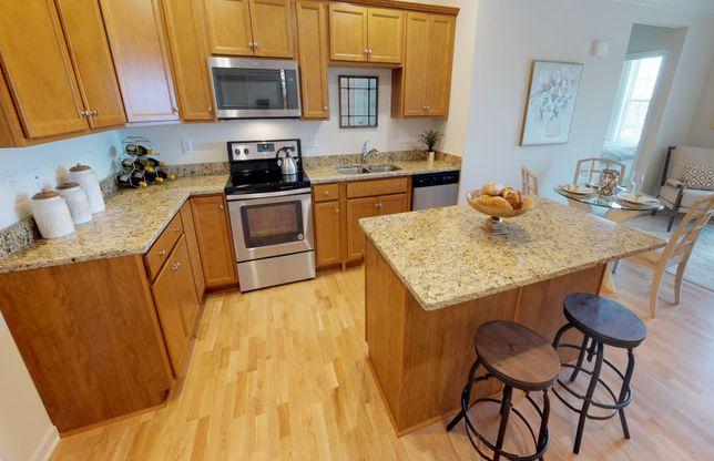Exterior:Kitchen with Granite Island