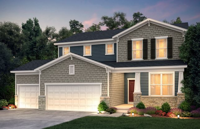 Exterior:Craftsman (Stone) with 3 Car Garage | CR2G
