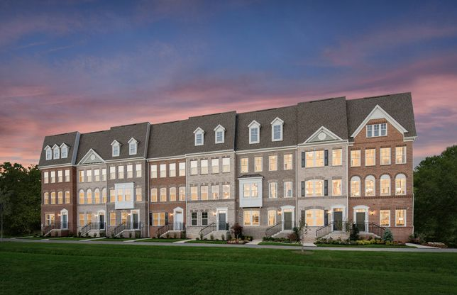Exterior:Model Representation - Germantown's New Luxury Towns with Optional Rooftop Terraces