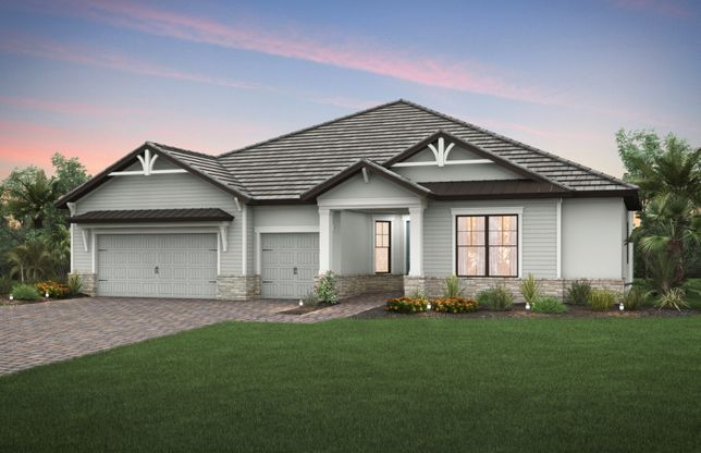 Nobility:Exterior KW2B with siding and stone detail
