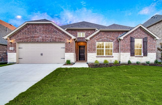Northlake:The Northlake, a one-story plan with 2-car garage, shown with Home Exterior C