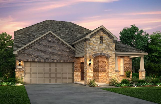 Keller:The Keller, a two-story home with 2-car garage, shown with Home Exterior 37