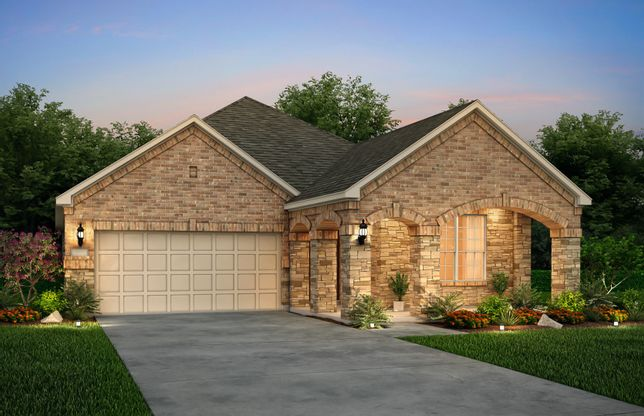 Orchard:The Orchard, a one-story home with 2-car garage, shown with Home Exterior 37