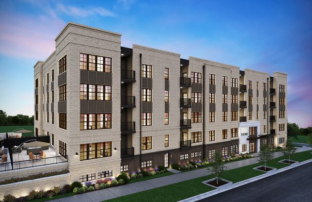 Finn:Exterior View of The Flats at Crown, a 1-Level Elevator Condo Building