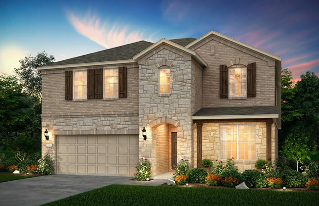 Sweetwater:The Sweetwater, a two-story home with 2-car garage, shown with Home Exterior 36