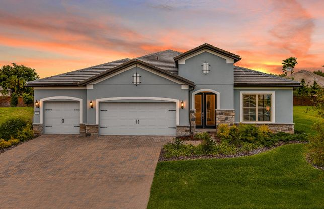 Sandpoint:New Home for Sale in Dr. Phillips - Sandpoint Exterior Twilight