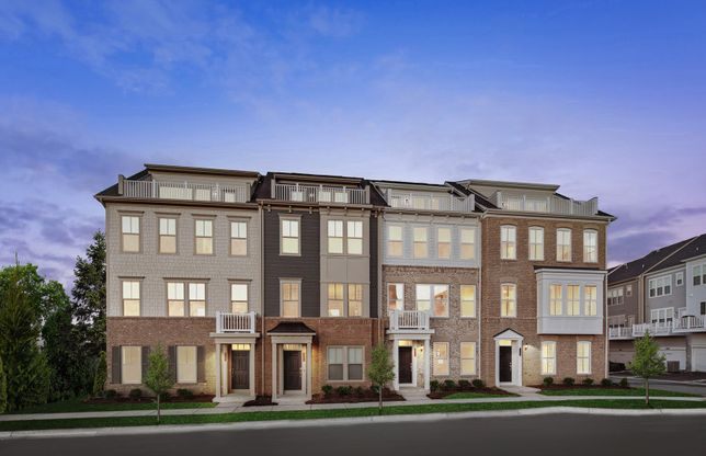 Exterior:Model Representation - Stately Townhome Exteriors
