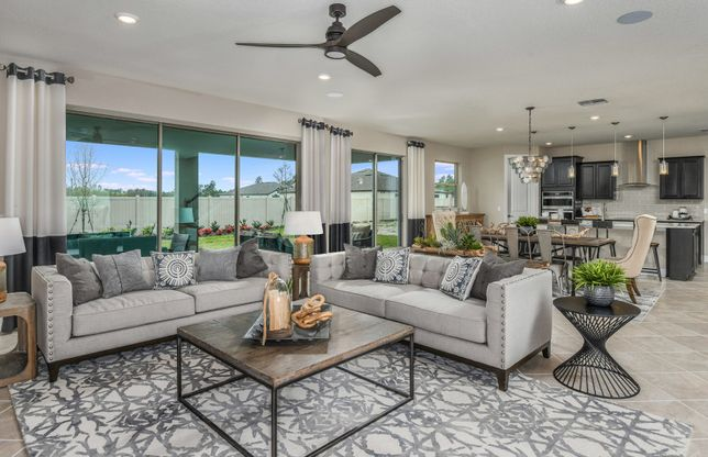 Mariner:Open Concept Floorplan - Gathering Room, Cafe, and Kitchen