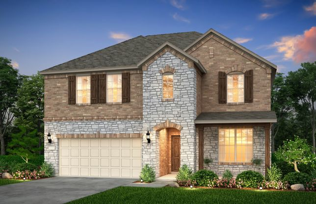 Sweetwater:The Sweetwater, a two-story home with 2-car garage, shown with Home Exterior 37