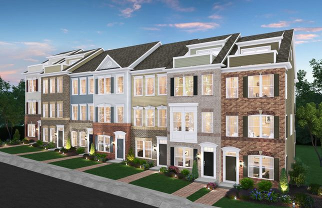 Burton Non-Garage:Clarksburg's New Luxury Towns with Rooftop Terraces